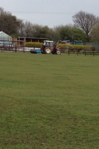 The field getting a make over 23/4/12