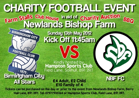 Charity football match May 13th 2012!