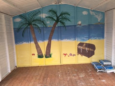 beach garden painting